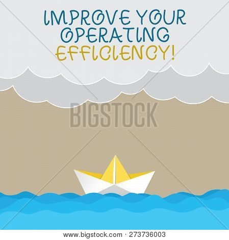 Handwriting Text Writing Improve Your Operating Efficiency. Concept Meaning Make Adjustments To Be M