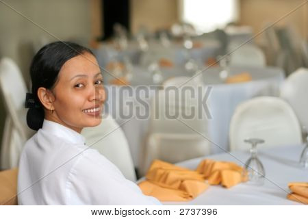 Banquet Staff Smiling At Work