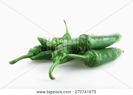 Jalapeno Peppers Isolated On White Background Stock Photos