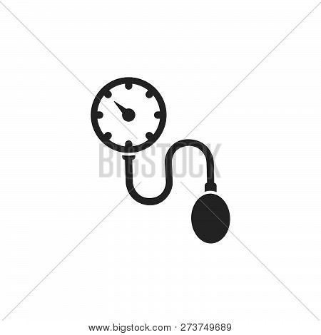 Medical Tonometer Icon On A White Background. Blood Pressure Check. Vector Illustration