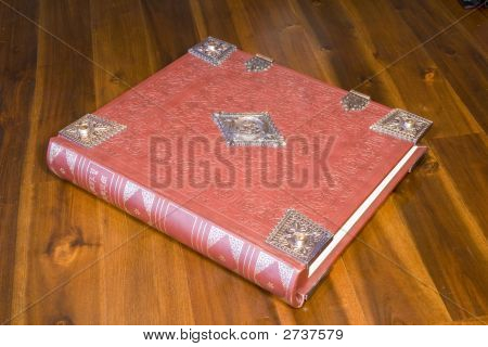 Embossed Leather Bound Book
