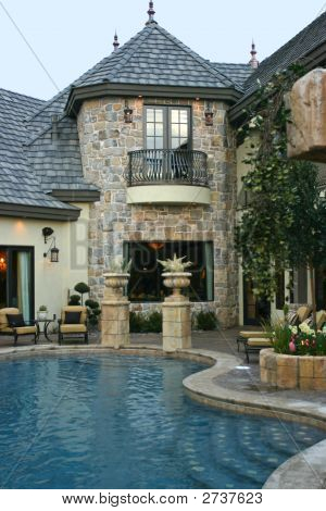 French Provincial Custom Backyard