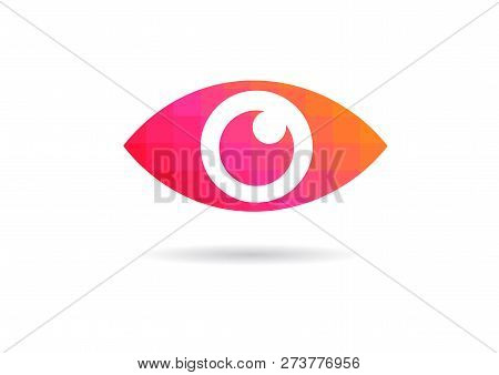 Eye Icon - Eye Symbol.  Flat Eye Sign Vector. Colorful Eye Icons - Vector