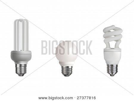 Three Realistic Bulbs