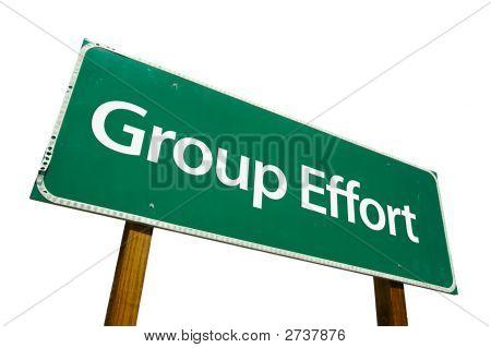 Group Effort - Road Sign.