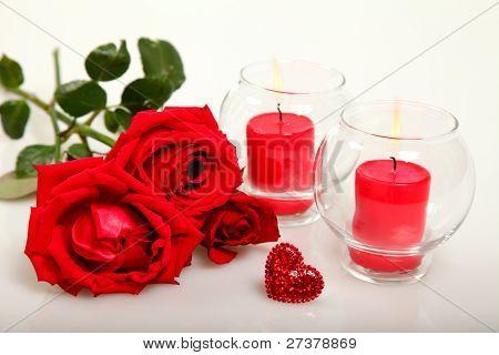 Roses and candles
