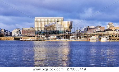 Stockholm, Sweden-5 January: The Congress Center On The Embankment In Stockholm On January 5, 2016.