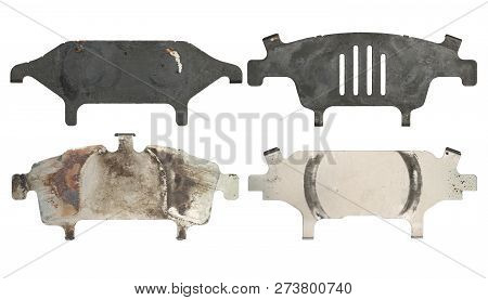 Anti Squeal Shim For Disc Brake Pad (with Clipping Path) Isolated On White Background
