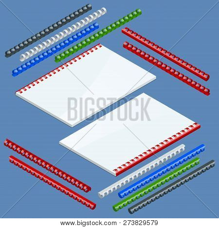 Isometric Document Binding Components And Springs For Fastening Of Catalogs, Plastic Springs For Bin