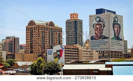 Johannesburg, South Africa - December 21, 2013. Johannesburg Began As A Gold-mining Settlement. Toda