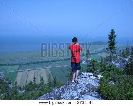 Man With Sea Landscape