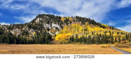 Silver Lake By Solitude And Brighton Ski Resort In Big Cottonwood Canyon. Panoramic Views From The H