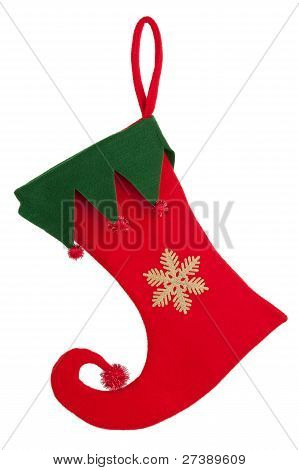Trim A Christmas Sock With A Bent Nose