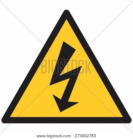 The Illustration Of An Isolated Electrical Hazard Symbol