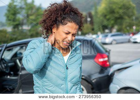 Painful Whiplash After Fender Bender Car Crash