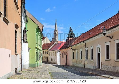 Bratislava, Slovakia. Beautiful Street Of The Old Town In A Sunny Summer Day
