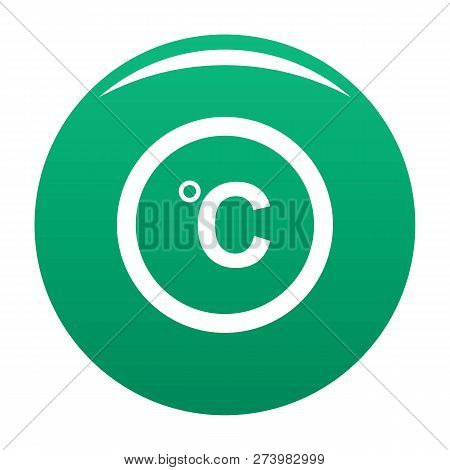 Celsius Icon. Simple Illustration Of Celsius Icon For Any Design Green