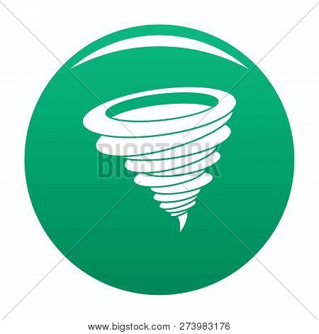 Hurricane Icon. Simple Illustration Of Hurricane Icon For Any Design Green