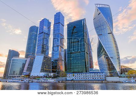Moscow, Russia-april 24: The Moscow International Business Center Moscow-city, April 24, 2016. Inter