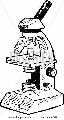 Lab microscope sketch