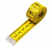 measuring tape,isolated on white with clipping path. poster