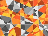orange and gray fragments background (vector) - illustration poster