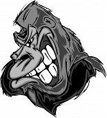 Cartoon Image of a Gorilla or Ape poster