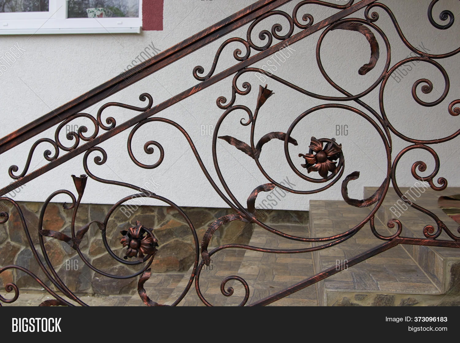 Stairs Wrought Iron Image Photo Free Trial Bigstock