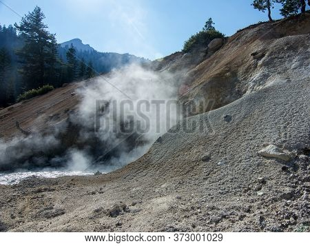 Sulphur Works Boiling Mudpot, Lassen Volcanic National Park, Usa. This Is One Of The Hydrothermal To