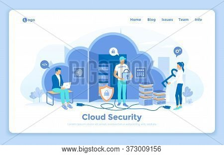 Cloud Security, Cloud Computing, Data Protecting, Secure Data Exchange. Security Service Protects Cl
