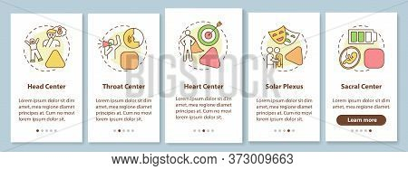 Energy Center Classification Onboarding Mobile App Page Screen With Concepts. Human Design System Wa