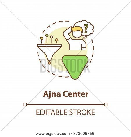 Anja Center Concept Icon. Ability To Conceptualize. Abstract Thinking. Chakra In Body System. Human
