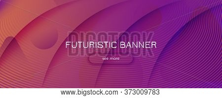 Abstract Fluid Background. 3d Futuristic Design. Flow Lines Banner. Purple Abstract Fluid Background