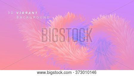 Pink Wave Fluid. Neon Graphic Template. Color Geometric Flyer. Digital Motion. 3d Wave Fluid. Abstra