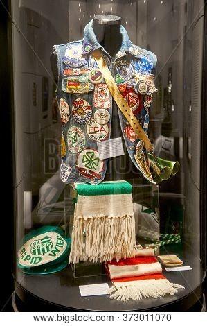 Vienna, Austria - September 2018: Museum Exposition At Fc Rapid Arena