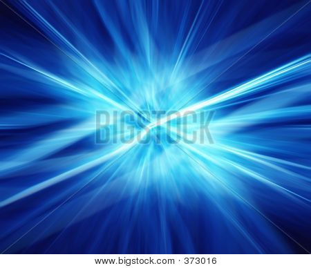 Rays Of Blue Energy.