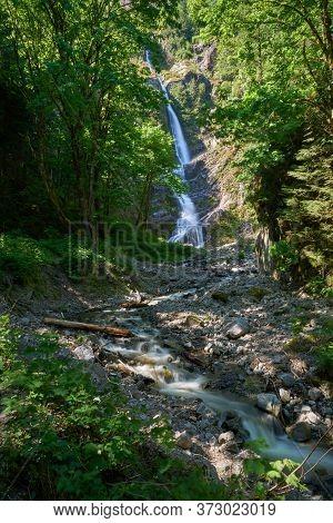 Flood Falls British Columbia Vertical. Pretty, Little Flood Falls Near Hope. British Columbia, Canad