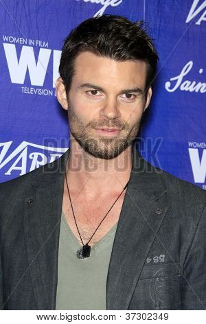 LOS ANGELES - SEP 21:  Daniel Gillies arrives at the Variety and Women in Film Pre-Emmy Event at Scarpetta on September 21, 2012 in Beverly Hills, CA