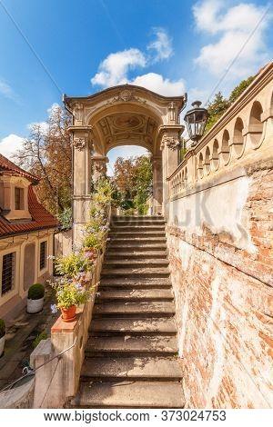 Prague - July 10: Summer-house Of Bottom Part Of Small Furstenberg Garden On July 10, 2017 At Prague