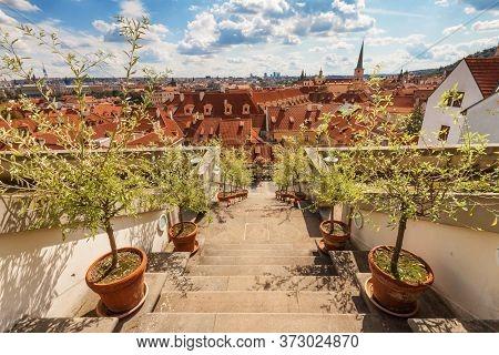 Ledeburg Garden - July 11: The Stairway In Ledeburg Garden, The Part Of Complex Of Palace Garden Ben