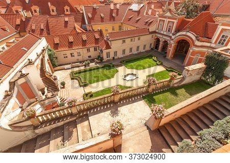 Ledeburg Garden - July 11: Overall View On Bottom Part Of Ledeburg Garden On July 11, 2017 At Prague
