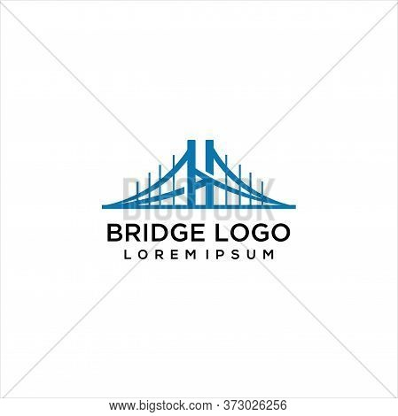Bridge Logo Template Vector Icon Illustration Design, Bridge Vector Logo Graphic Modern