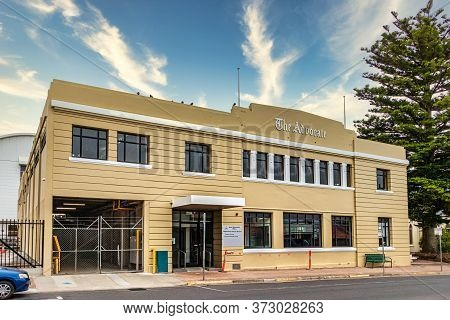 Burnie, Tasmania, Australia - March 1, 2020: The Advocate Newspaper Buiding In Burnie, Tasmania.