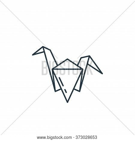 origami icon isolated on white background from  collection. origami icon trendy and modern origami s