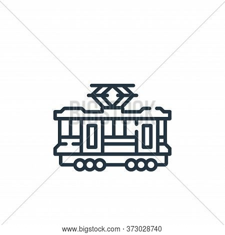 Tram Vector Icon Isolated On White Background.