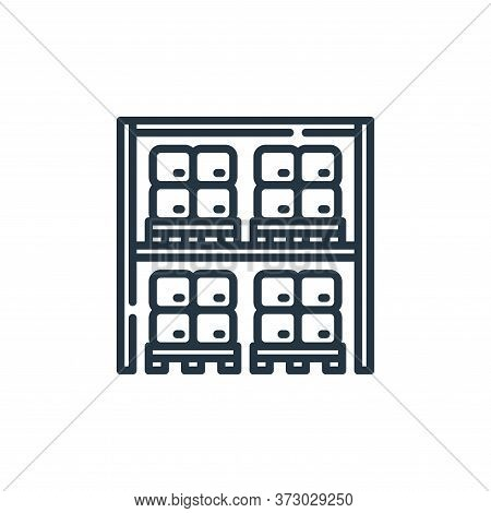 warehouse icon isolated on white background from  collection. warehouse icon trendy and modern wareh