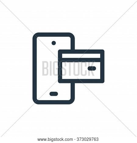 mobile payment icon isolated on white background from  collection. mobile payment icon trendy and mo