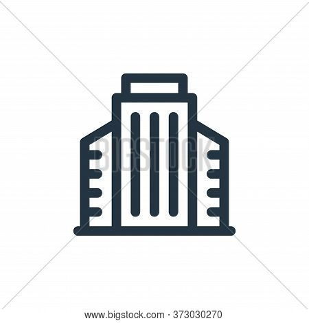 office building icon isolated on white background from  collection. office building icon trendy and