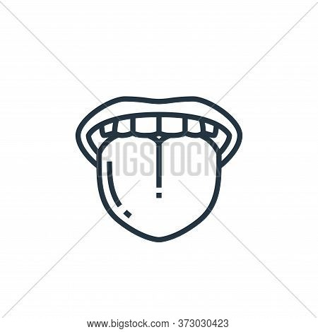 tongue icon isolated on white background from  collection. tongue icon trendy and modern tongue symb