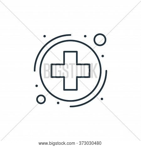 healthcare icon isolated on white background from  collection. healthcare icon trendy and modern hea